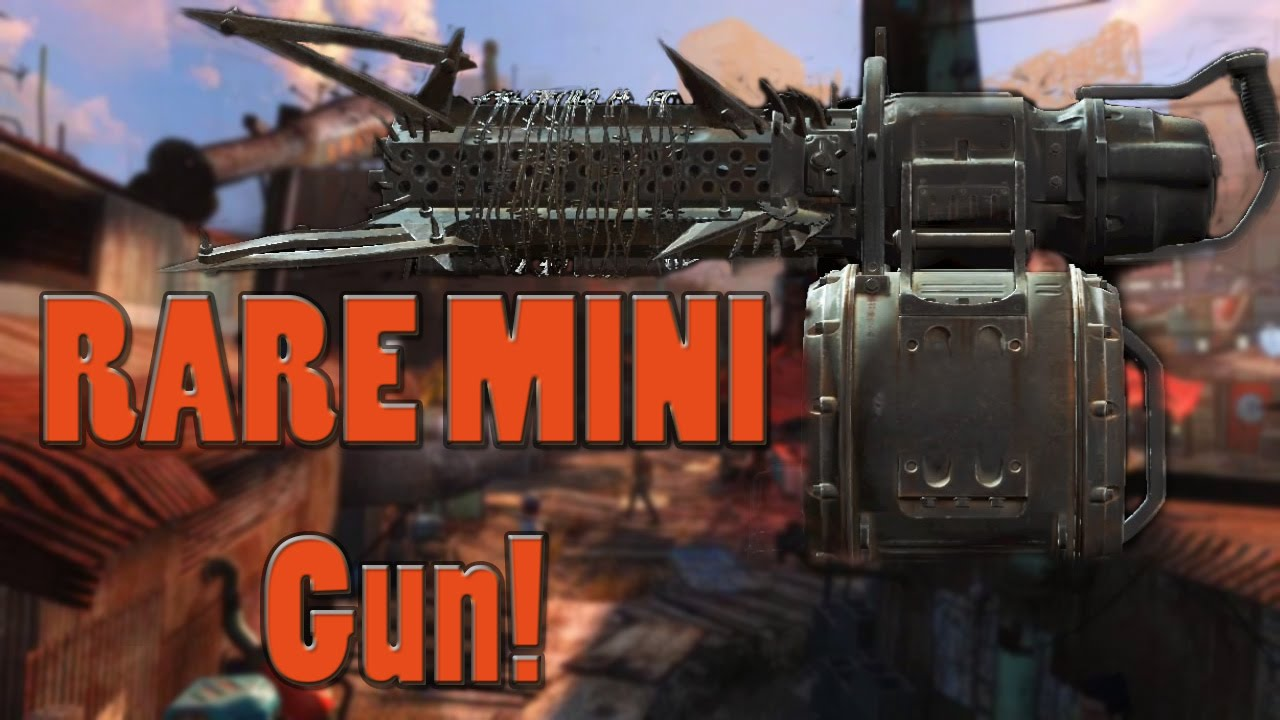 how to get explosive minigun fallout 4