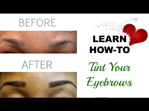 At Home Eyebrow Tinting Kit