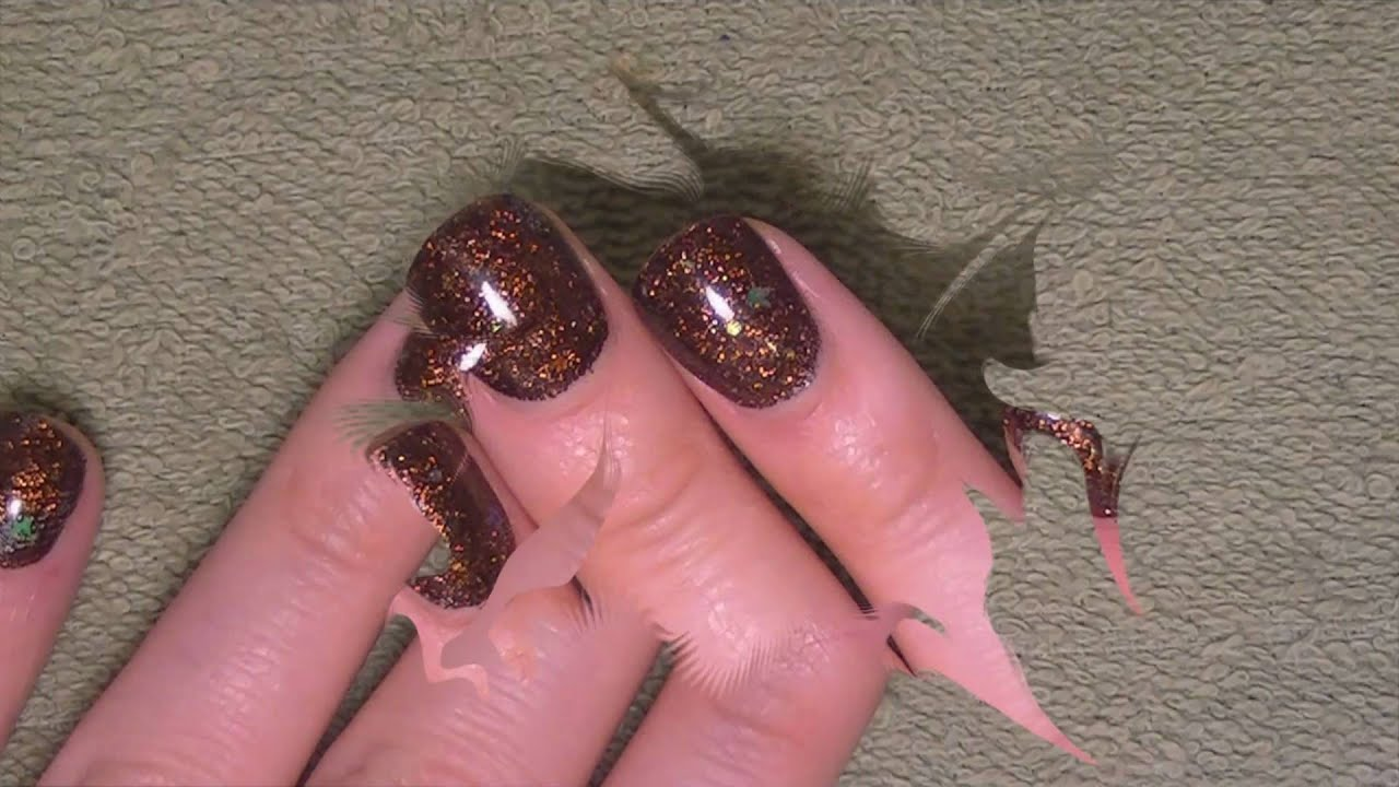 Acrylic Nails Tutorial - Acrylic nails with no tips - YouTube