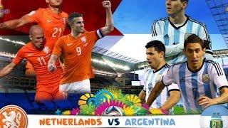 Нидерланды - Аргентина  Все Голы. Обзор матча. весь матч.
