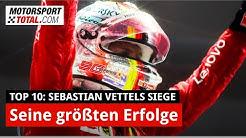 Die zehn größten Siege von Sebastian Vettel