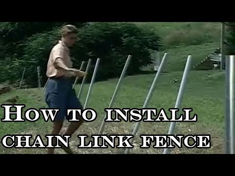 How To Install Chain Link Fence Youtube