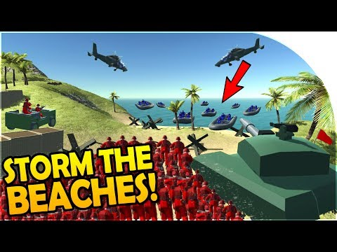 """STORM THE BEACHES!"" - ISLAND ASSAULT! - NEW Ravenfield UPDATE - Ravenfield Gameplay"