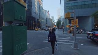 3D VR 180, New York City,  Manhattan, Lexington Ave, 51st to 52nd, right side walking tour