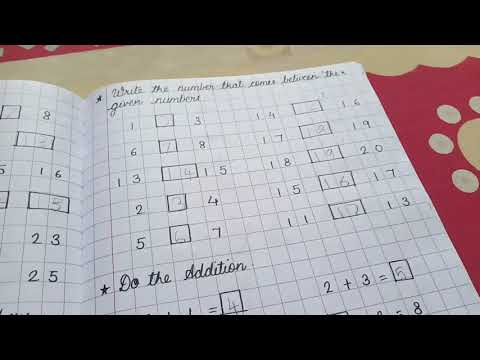 Maths Activity Notebook for 5 years old | Our Journey At Home | DIY Maths Notebook