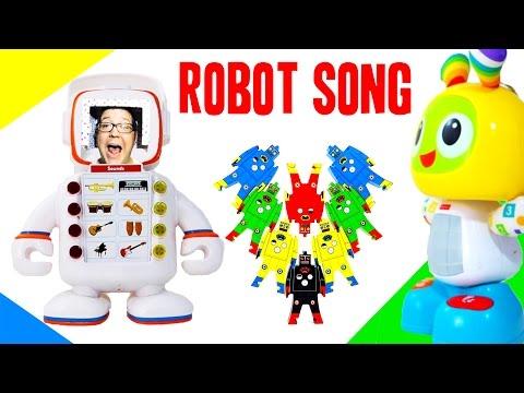 ROBOT SONG FOR KIDS   Robot Music for Kids   Beatbo, Alfie, Plex, C-3PO Dance Party OCTOYBER