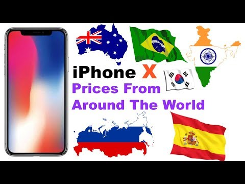 iPhone X Pricing Across The World
