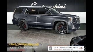 2016 Cadillac Escalade 4wd Platinum Dark Granite LT1139