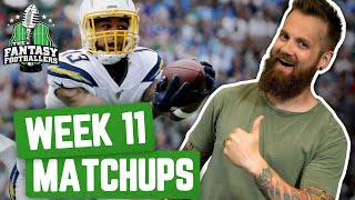 Fantasy Football 2019 - Week 11 Matchups + In-or-Out, Magic Eye Jealousy - Ep. #819