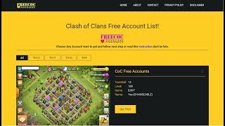 Clash of Clans Free Accounts | Get Free coc account 2018