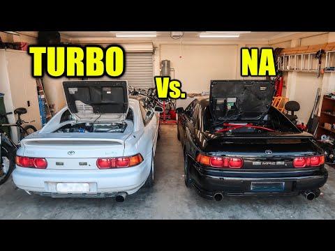Toyota MR2 Vs. MR2 TURBO: Race | Engine Bay Comparison