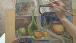 Пишем натюрморт в технике гладкой живописи | часть 3