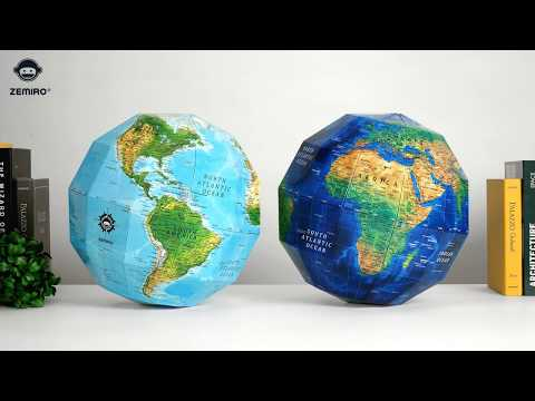 ZEMIRO GLOBE (Earth) - 재미로 지구본 / DIY GLOBE / PAPER GLOBE