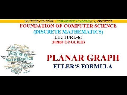 PLANAR GRAPH AND EULER'S FORMULA WITH EXAMPLE