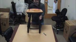How To Assemble A Holland Bar Stool Metal Stool With Back