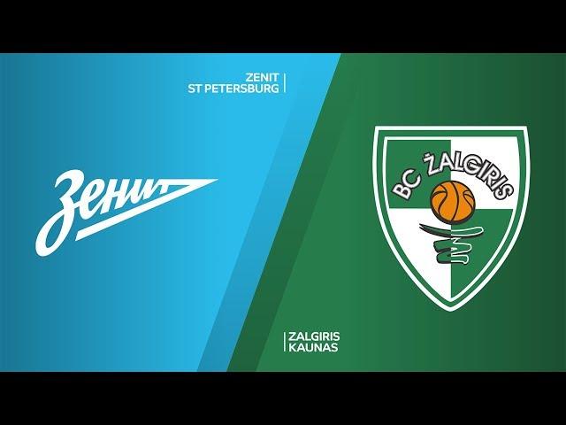 Zenit St Petersburg - Zalgiris Kaunas Highlights | Turkish Airlines EuroLeague, RS Round 28