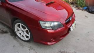 Subaru legacy - покраска капота, ремонт и покраска бампера, покраска накладки задней крышки