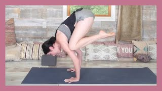 Crow Pose Tutorial - How To Do Crow Pose For Beginners