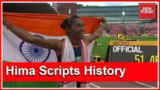 Making history, Assamese athlete Hima Das became India's first-ever...