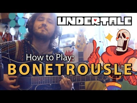 """How to Play """"Undertale — Bonetrousle Acoustic Cover"""" /w Tabs"""