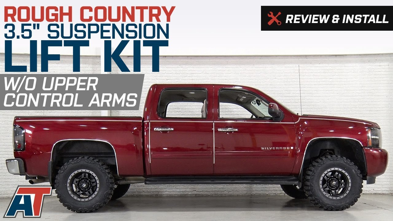 hight resolution of 2007 2018 silverado rough country 3 5 suspension lift kit w o upper control arms review install