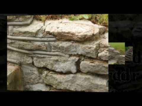 how to repair a stone retaining wall