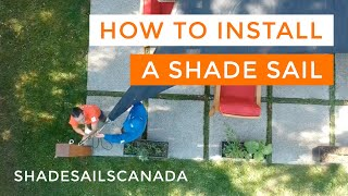 Drop and Fly   How to Put Up and Take Down a Shade Sail