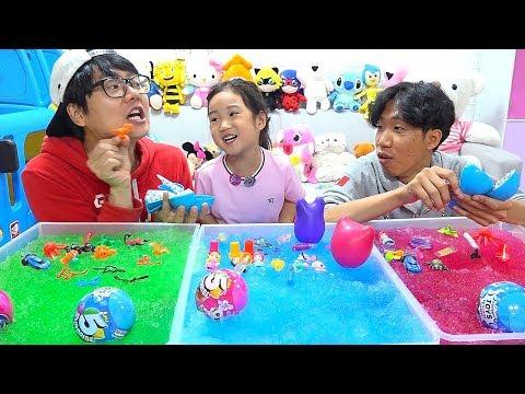 보람이와 코난 또치의 젤리베프 장난감 챌린지 Boram GELLI BAFF TOY CHALLENGE GAME