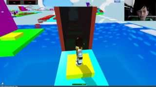 Roblox Parkour Fun With Live Webcam And Skype Part 1 Super Noob Obby