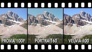 Slide Film vs Color Negative: Portra 160, Provia 100F & Velvia 100