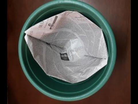 Simple Newspaper dustbin liner