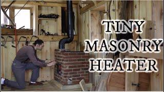 How to build a tiny masonry heater for the woodshop