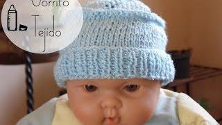 Cómo hacer un gorrito tejido para bebé