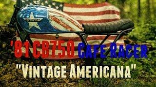 1981 CB750 Cafe Racer Build Part #2 - AMERICAN PAINT JOB