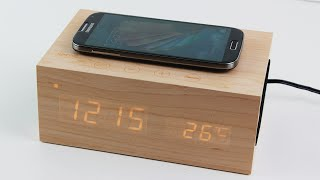 SinoPro X5 Multi-Function Wooden Alarm Clock [Review]