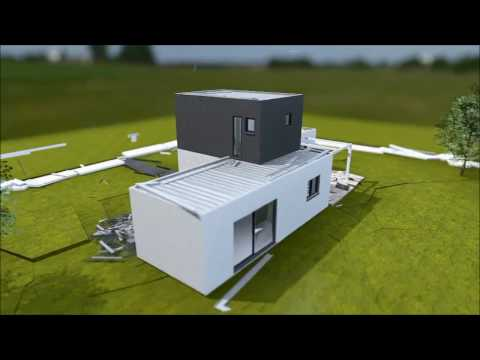 modular concrete housing with metallic fibres