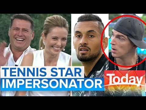 Impersonator does Nadal, Kyrgios and Murray   Today Show Australia