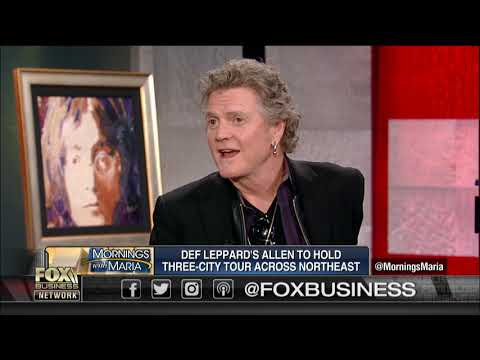 Def Leppard drummer, Rick Allen giving back to veterans through painting – Fox Business Video