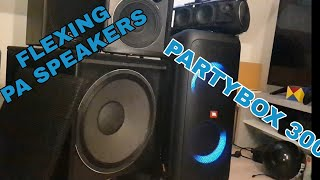 JBL PartyBox 300 + PA Speakers | Bass Test | Extreme Loud!!!