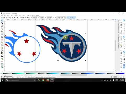 Tracing a 5 color logo in Inkscape