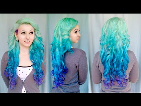 Diy Mermaid Ombre Haare Tutorial Von Cira Las Vegas Youtube