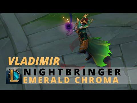 Nightbringer Vladimir Emerald Chroma - League Of Legends