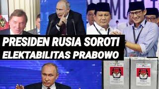 ELEKTABILITAS PRABOWO DISOROT PRESIDEN RUSIA;PILPRES 2019;JOKOWI-MA'RUF AMIN;SANDIAGA;PILPRES 2019;S