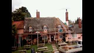 The Sorrel Horse, Shottisham re-thatching underway