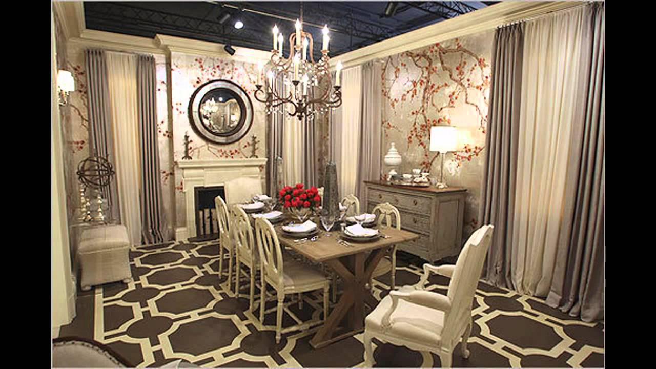 Elegant Wallpaper for dining room decorating ideas - YouTube