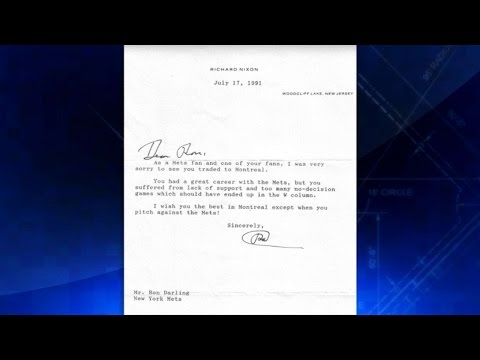 Darling shows his letter from President Nixon