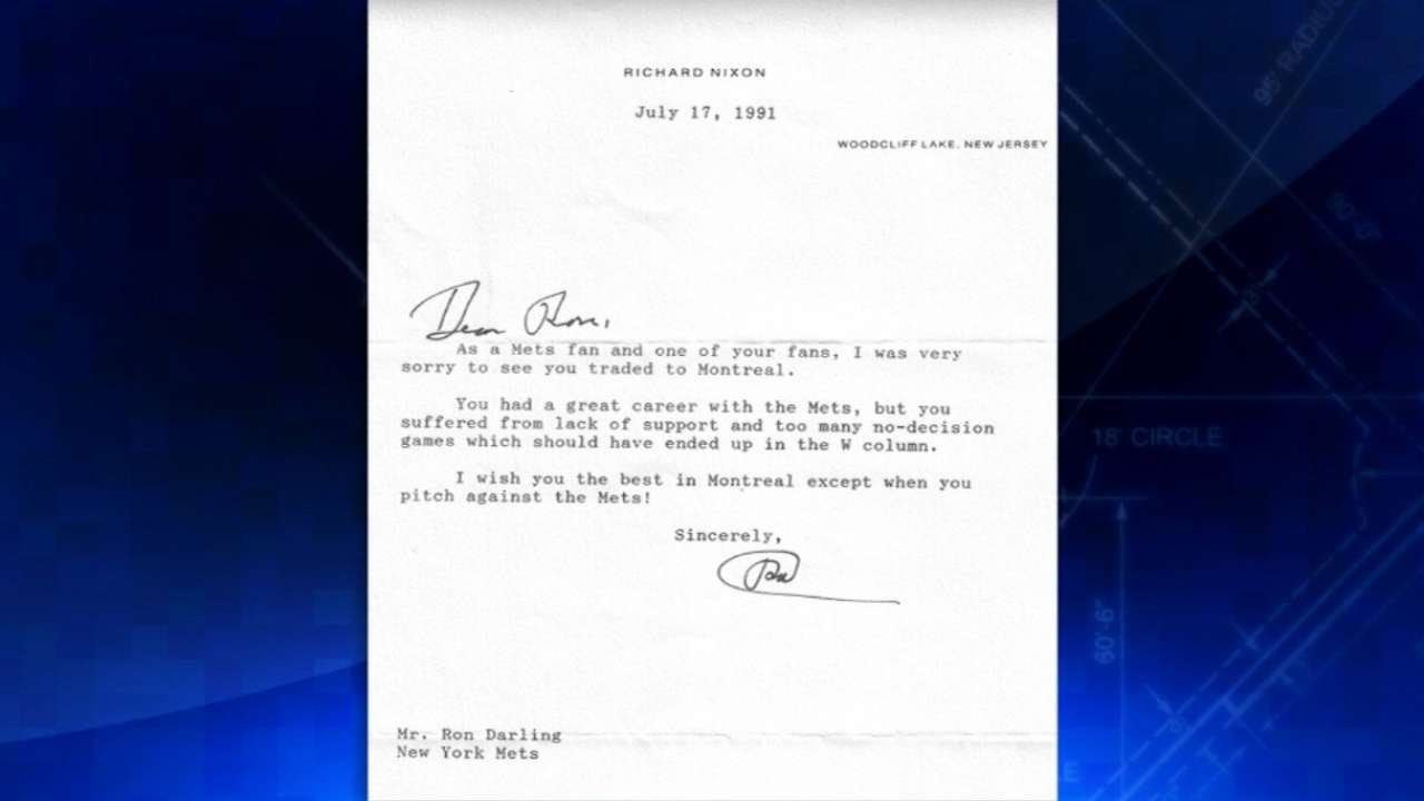 Darling shows his letter from President Nixon - YouTube