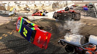 NASCAR LEGENDS AND THE FIGURE 8 RACE! -  Next Car Game Wreckfest