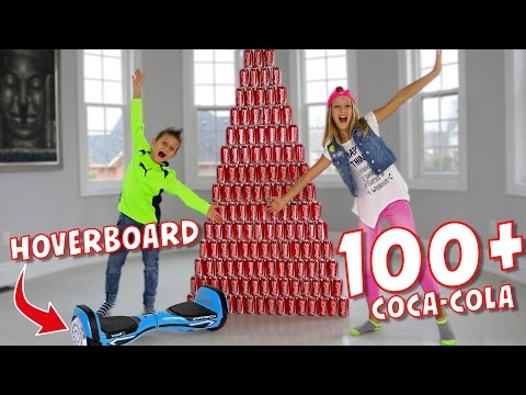 100+ Coca-Cola and Hoverboard Challenge!!!!