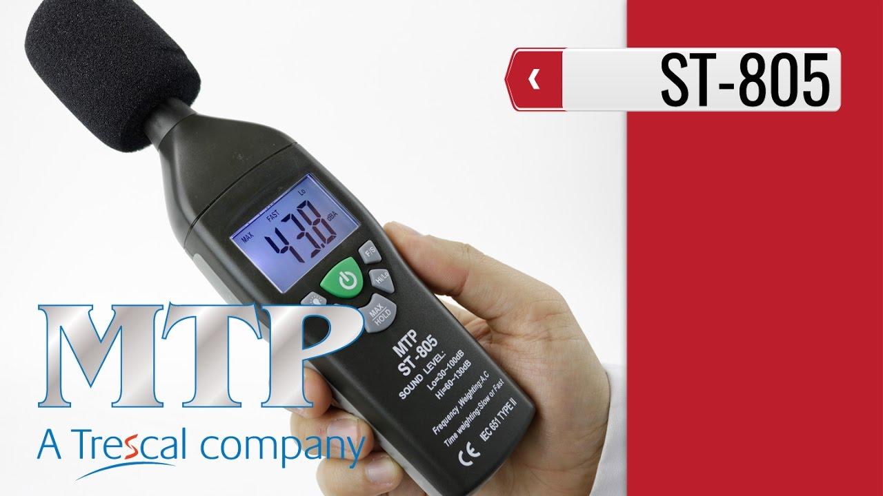 MTP ST-805 Sound Level Meter (product video presentation)